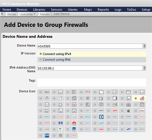 Add Device to Group Firewalls