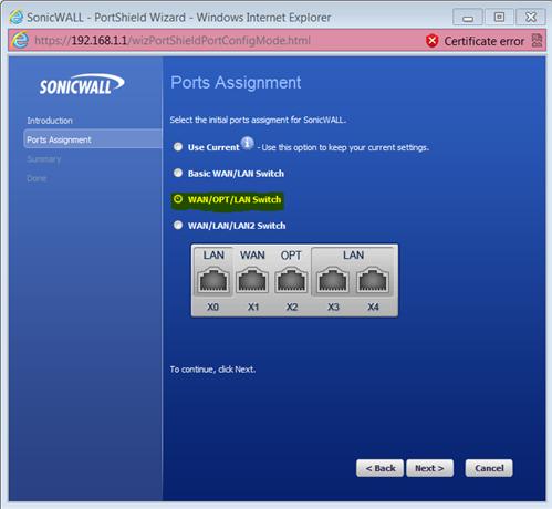 SonicWALL Dual ISP