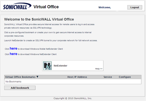 SonicWall Virtual Office