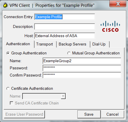 VPN properties