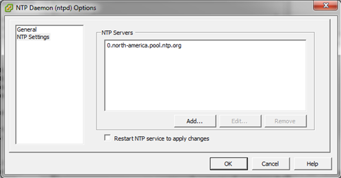 NTP Settings