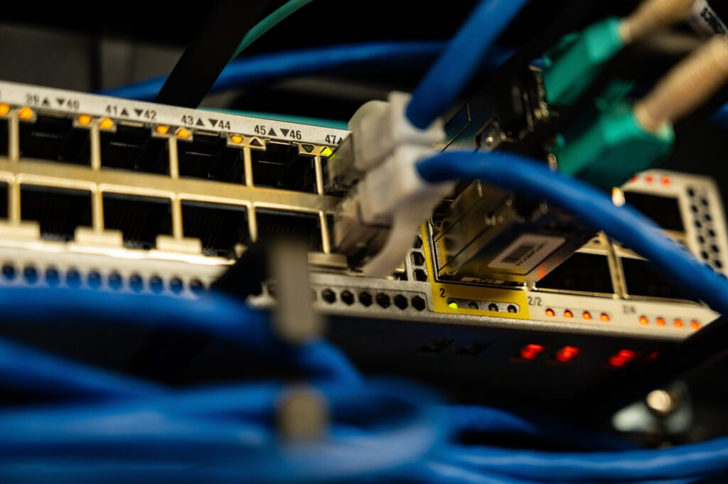 Ethernet Cables Plugged In Network Switch 2881224